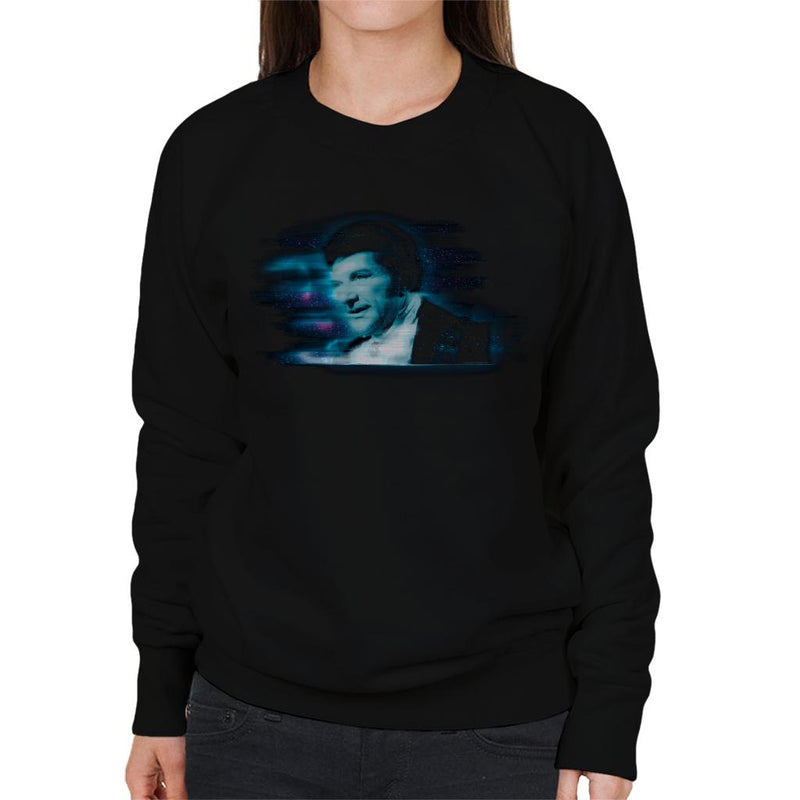 TV Times Pianist Liberace Blue Static Women's Sweatshirt - POD66