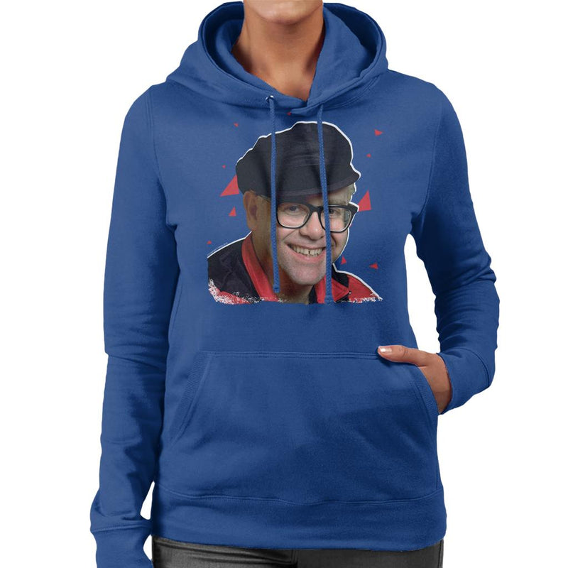 TV Times Pop Singer Elton John 1989 Women's Hooded Sweatshirt - POD66