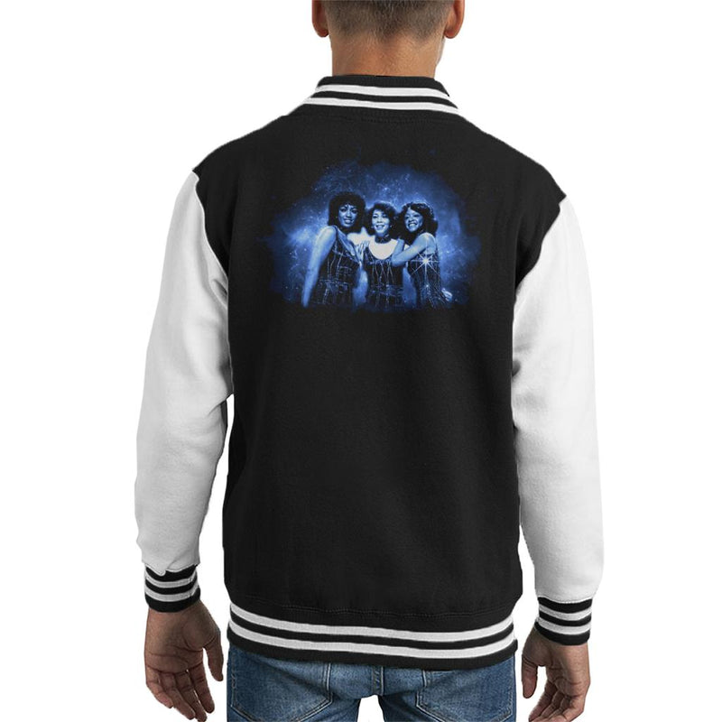 TV Times The Three Degrees Pop Group Kid's Varsity Jacket - POD66