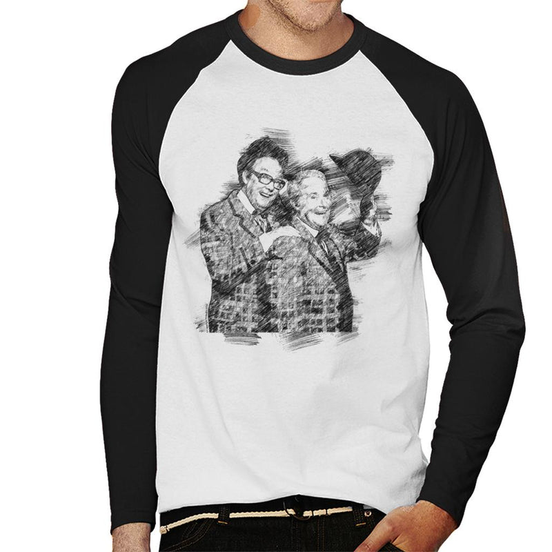 TV Times Comedy Duo Eric Morecambe And Ernie Wise 1981 Men's Baseball Long Sleeved T-Shirt - POD66