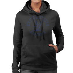 US Airforce Eagle Navy Blue Text Women's Hooded Sweatshirt - POD66