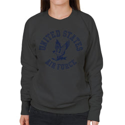 US Airforce Eagle Navy Blue Text Women's Sweatshirt - POD66