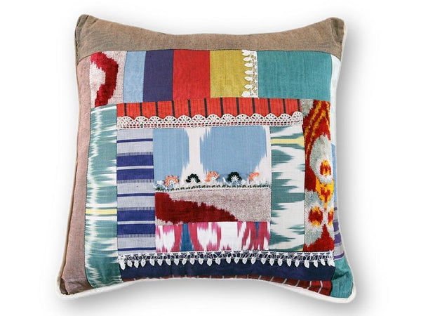 Crazier Ikat Pillow - Letters From Bosphorus