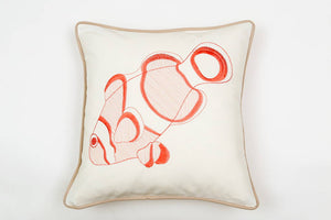 Clownfish Pillow in Coral