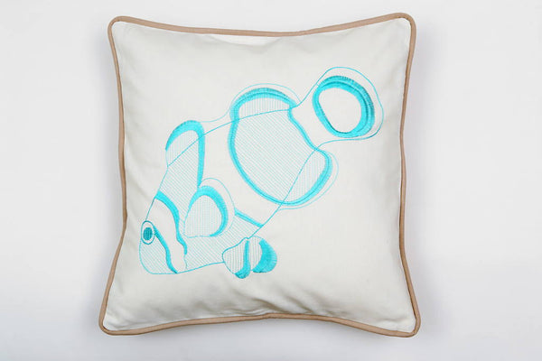 Clownfish Pillow in Turquoise