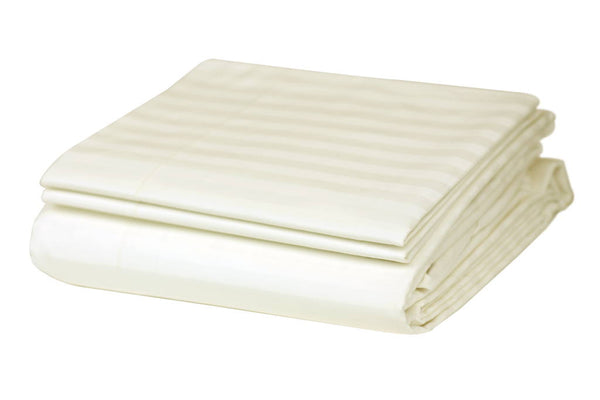 Cream Stripes Organic Cotton Bedding