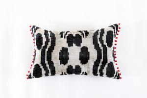 Ikat Pompom Pillow
