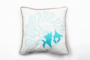 Cotton Nerite in Turquoise Pillow - Letters From Bosphorus
