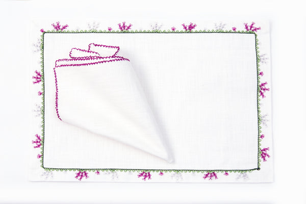 Paws Handmade Needle Lace Place Mat Set - Letters From Bosphorus