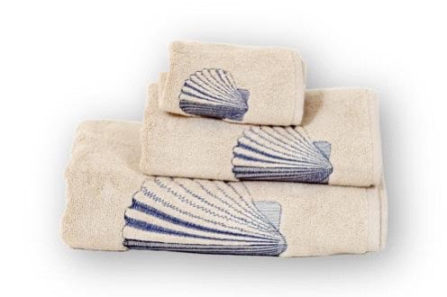 Scallop Organic Cotton Towel - Letters From Bosphorus