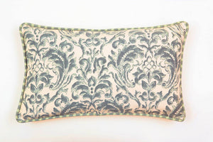 Ata Damask Green Pillow