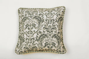 Ata Damask Green Pillow - Letters From Bosphorus