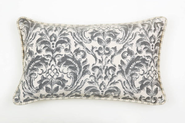 Ata Damask Grey Pillow