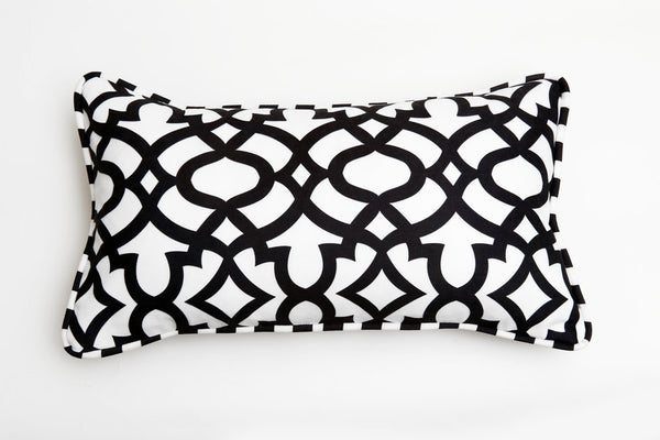 black ata cushion