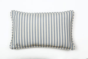 Ata Damask Blue Pillow