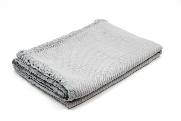 Organic Cotton Bed Cover in Grey