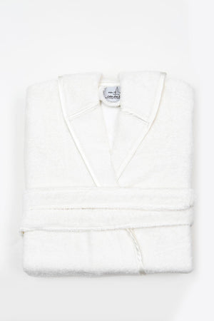 Organic Cotton Bathrobe For Women in Cream