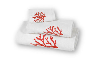 Coral Organic Cotton Towel - Letters From Bosphorus