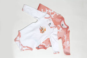 Flamingo Long Sleeved Bodysuit Set - Letters From Bosphorus
