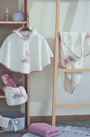 Flamingo Poncho Towel Set - Letters From Bosphorus