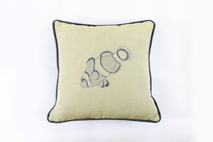 Clownfish Embroidered Pillow - Letters From Bosphorus