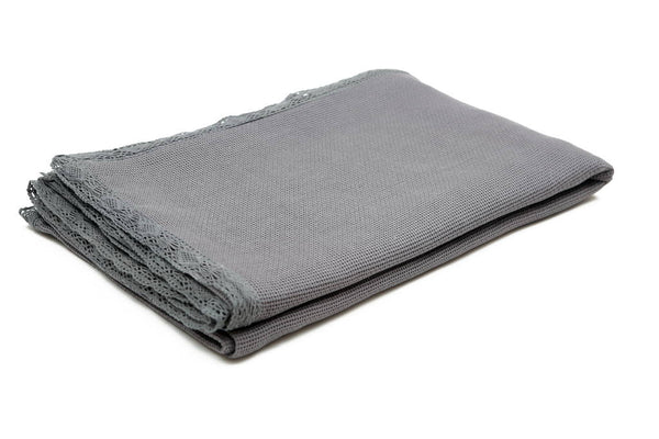 Organic Cotton Bed Cover in Dark Grey