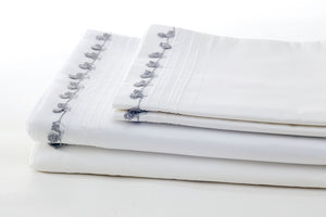 grey petite sheet set folded