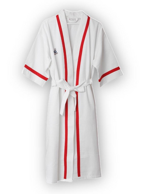 Mini Anchor Waffle Robe for Women - Letters From Bosphorus