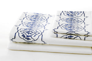 Iznik Organic Cotton Sheet Set - Letters From Bosphorus