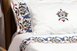 Kutahya Organic Cotton Duvet Cover Set - Letters From Bosphorus