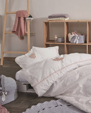 Mimosa Organic Cotton Bed Linen Set in Pink - Letters From Bosphorus