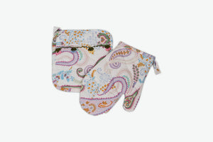 Paisley Kitchen Linen Set - Letters From Bosphorus