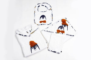 Penguin Poncho Towel Set - Letters From Bosphorus