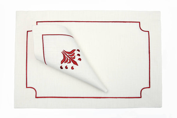 red dynasty place mat set