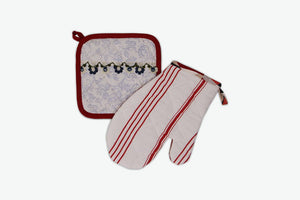 Red Kitchen Linen Set - Letters From Bosphorus