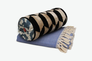 Blocks Away Neckroll Bolster Pillow - Letters From Bosphorus