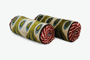 Green Eyes Neckroll Bolster Pillow - Letters From Bosphorus