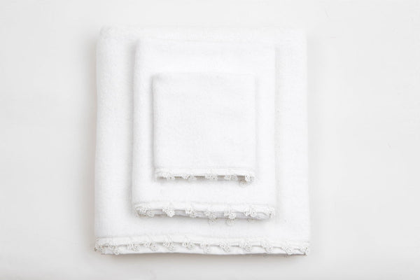 white snow petite organic cotton towel