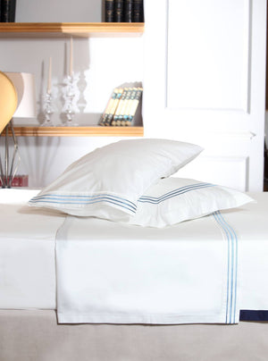 straight mania in baby blue sheet set
