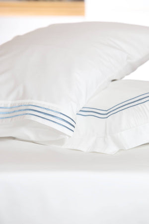 Straight Mania Baby Blue Organic Cotton Sheet Set - Letters From Bosphorus