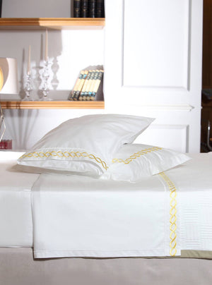 Twisted Mania Yellow Organic Cotton Sheet Set - Letters From Bosphorus