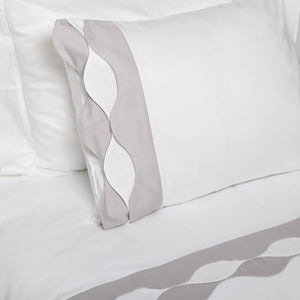 Wavy in Grey Organic Cotton Bedding Set - Letters From Bosphorus