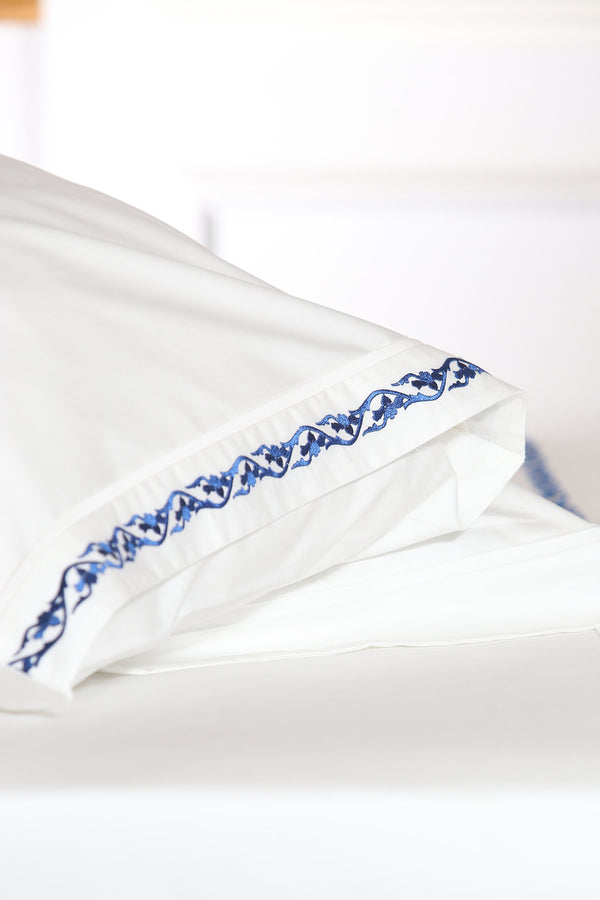 Willow Leaves Organic Cotton Sheet Set - Letters From Bosphorus