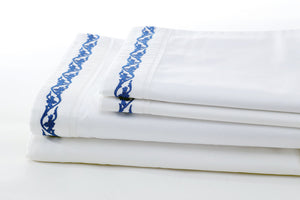 ata willow leaves sheet set folded
