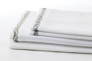 ata willow leaves soft sheet set folded