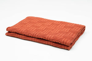Woven Blocks Cotton Throw Blanket - Letters From Bosphorus