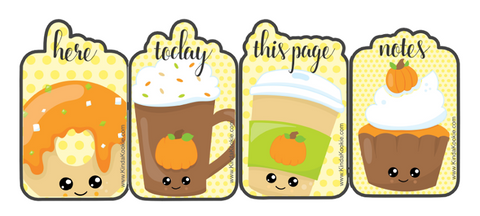 Autumn Treats - Free Planner Printables-Bookmarks by KindaKookie