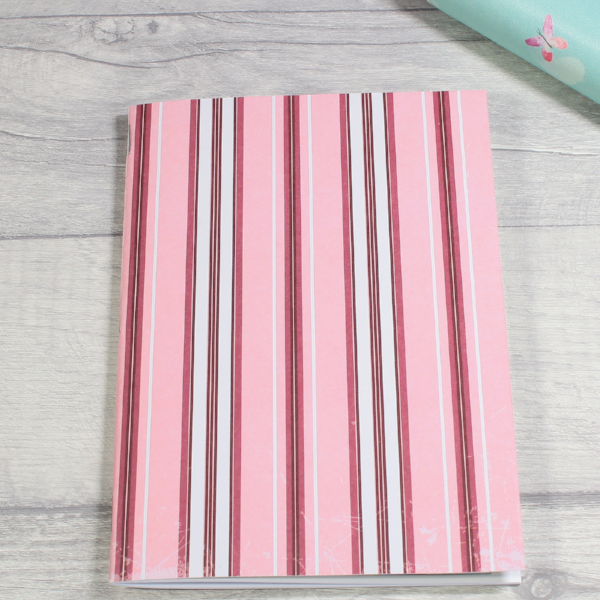 3 card tarot spread notebook or tn inserts B6 size pink stripes by KindaKookie