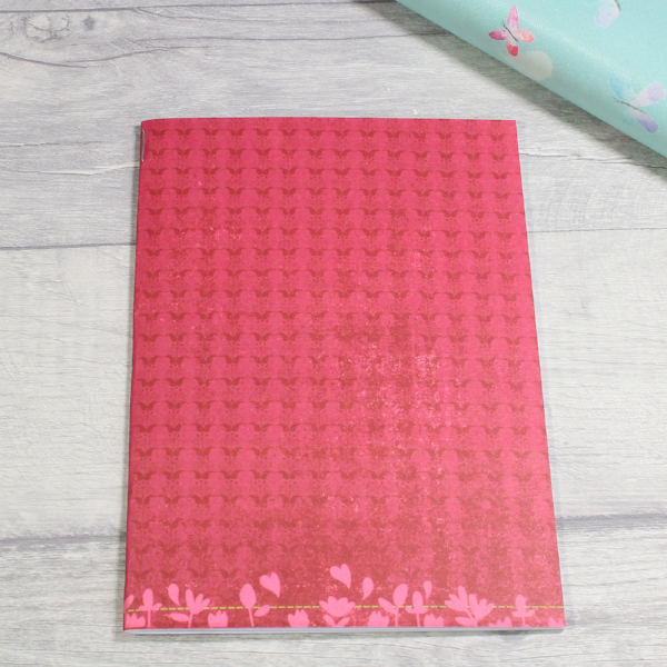 3 card tarot spread notebook or tn inserts B6 size red butterflies flowers by KindaKookie