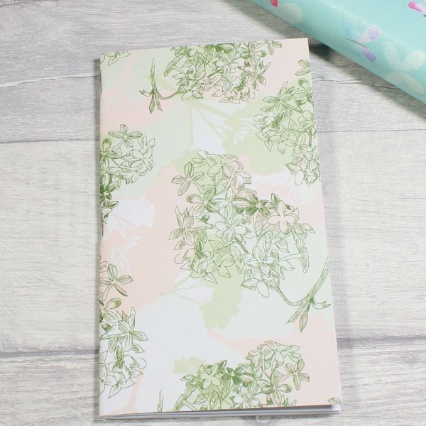 3 card tarot spread notebook tn insert personal size pink and green herbs by KindaKookie